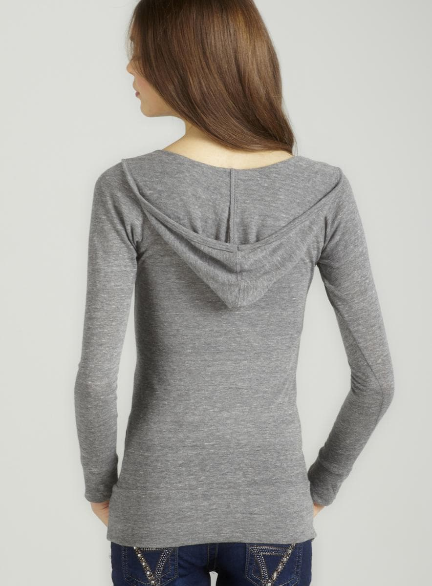 Alternative Eco grey l/s deep v hoodie - Thumbnail 1