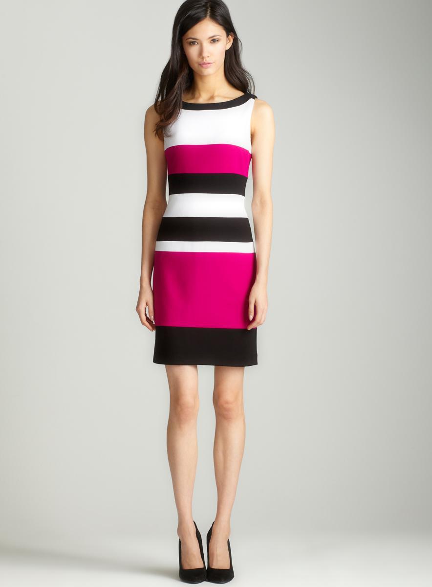Premise Boatneck 3 colorblock dress