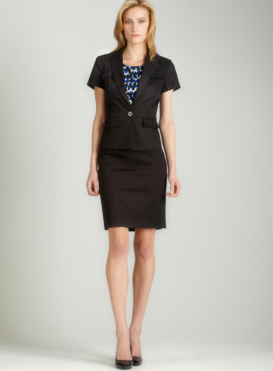 Calvin Klein Single button skirt suit