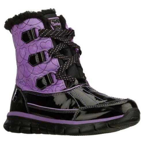 Girls' Skechers Synergy Loop Deloop Black/Purple