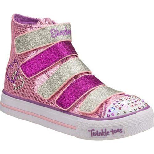 Girls' Skechers Twinkle Toes Shuffles 5 Alive Pink/Purple