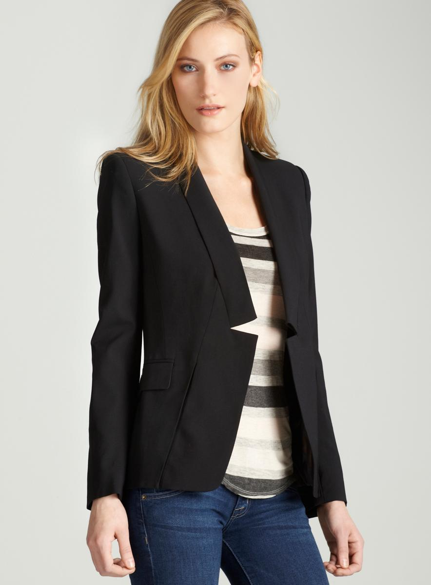 Halston Heritage Relaxed blazer notch lapel
