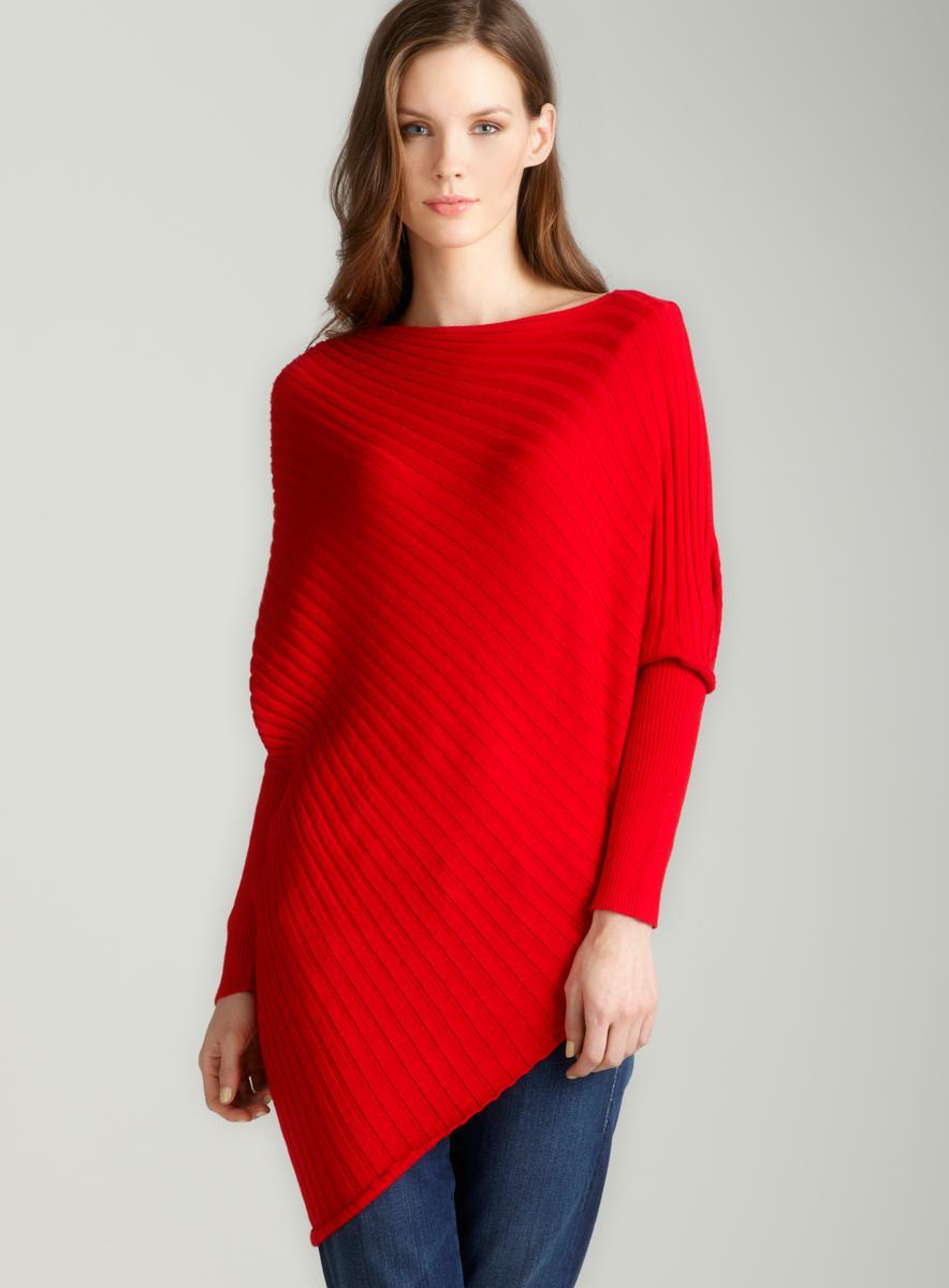 Tracy M Rib pullover in scarlett