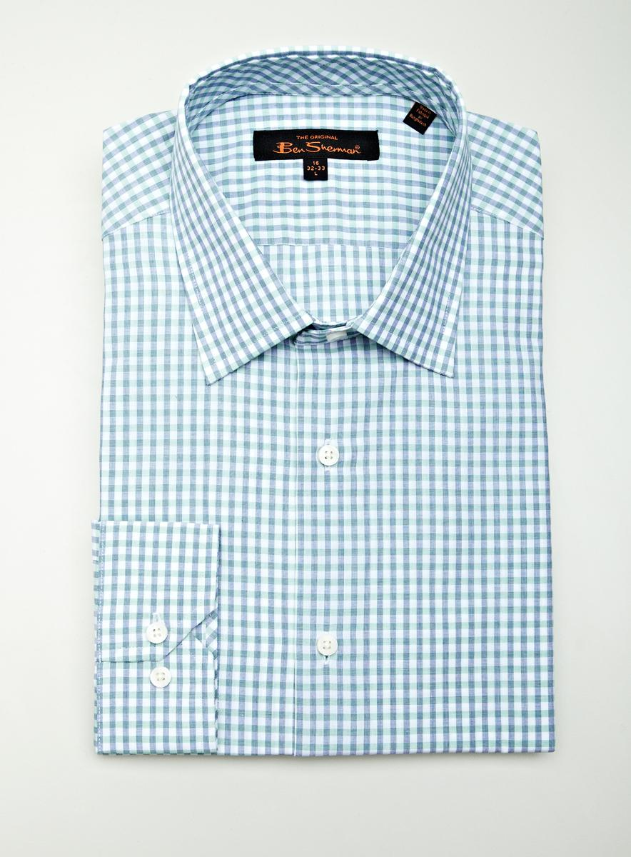 Ben Sherman Nvy/Lt Grn Plaid