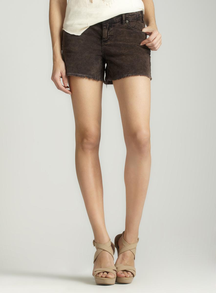 Free People Mid Rise Cord Short