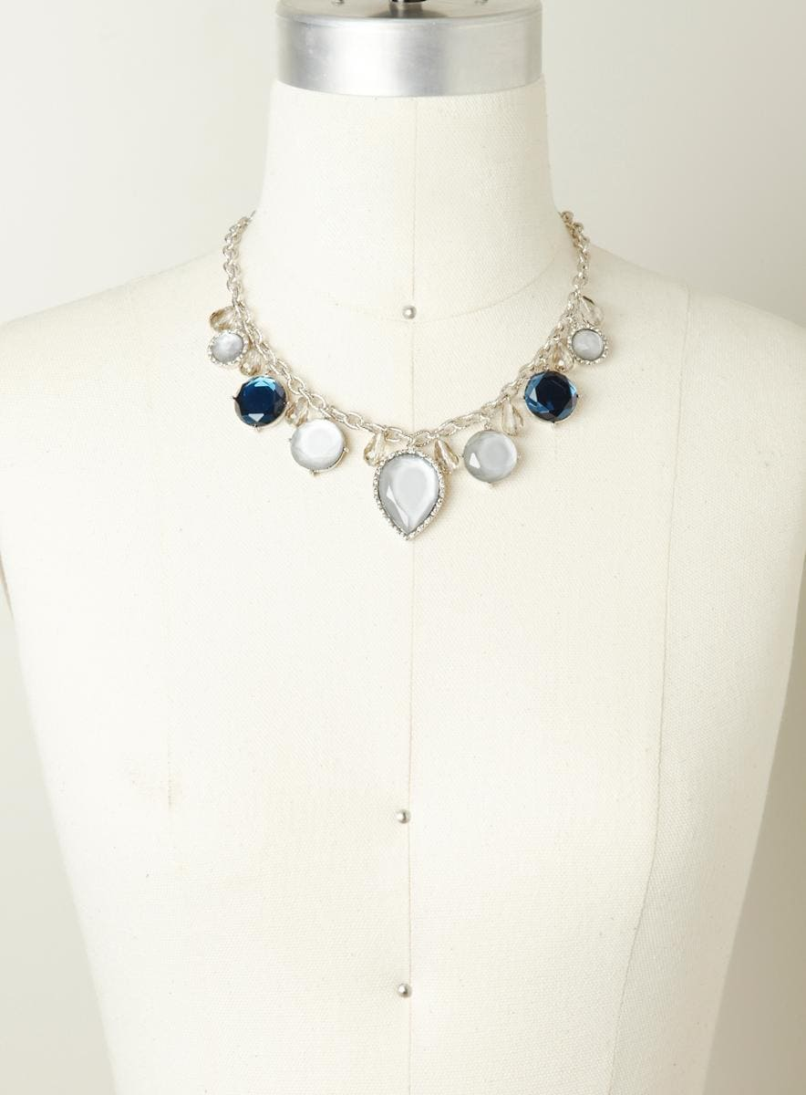Lydell Jeweled collar necklace
