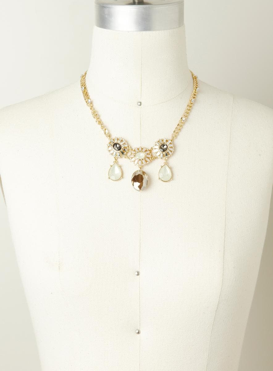 Lydell Sunburst collar necklace
