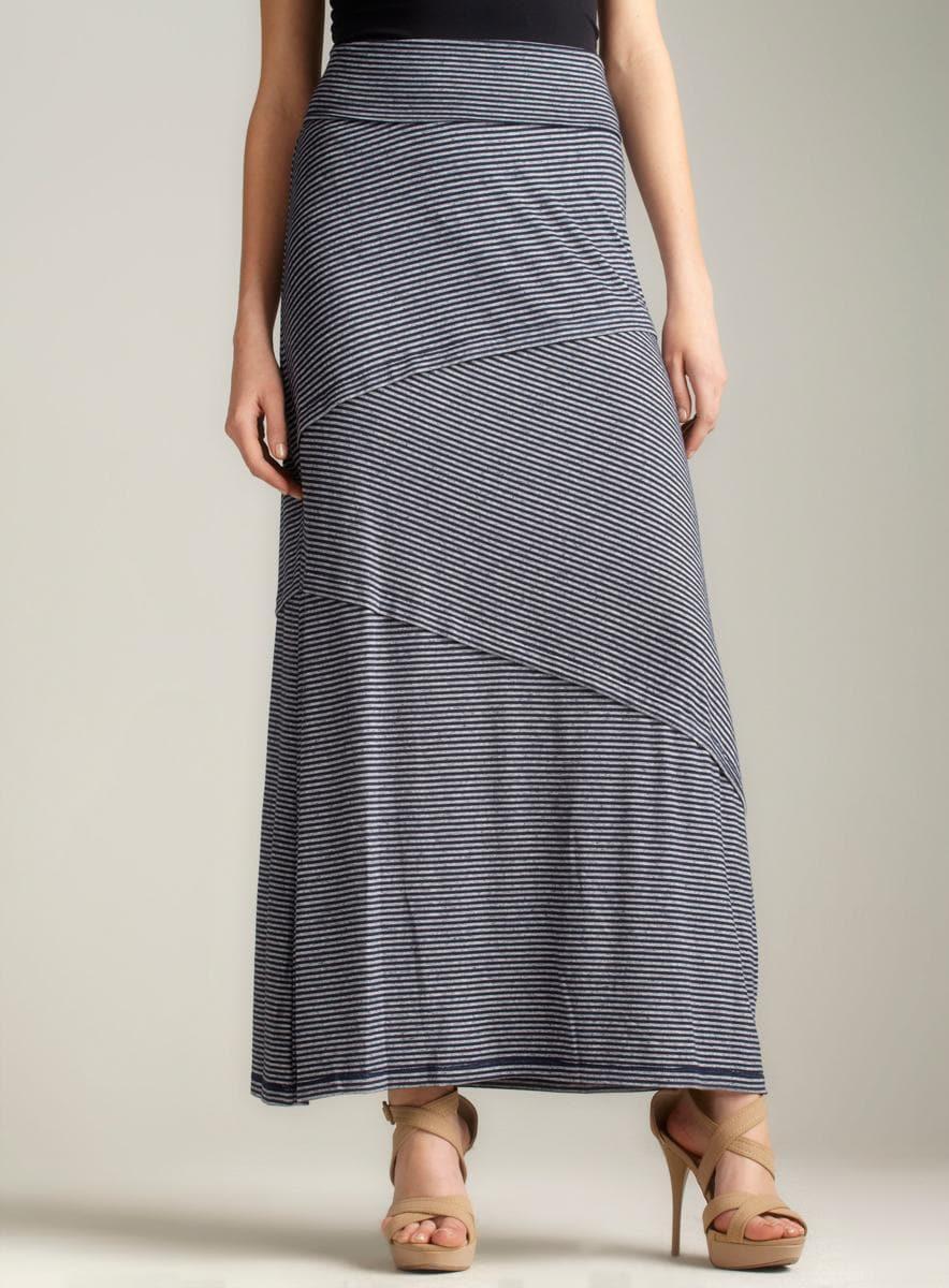 Max Studio Nautical stripe maxi skirt