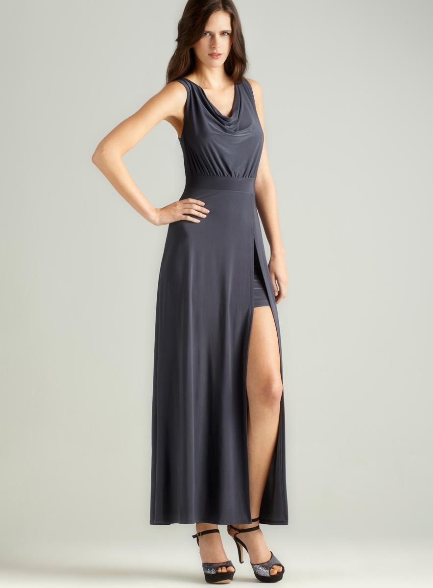 Soprano Slvls Cowl Neck Maxi Dress