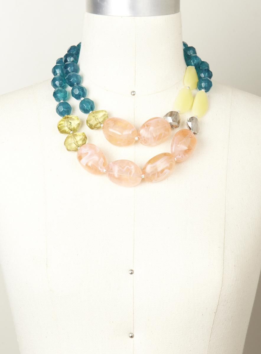 Lydell Large Glass Stone Necklace
