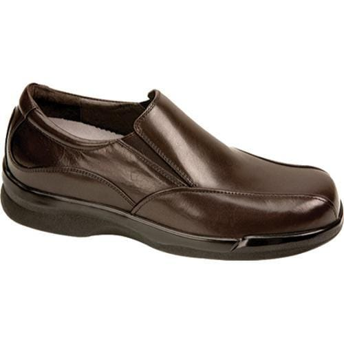 Men's Apex Ambulator Biomechanical Slip-on Brown Leather