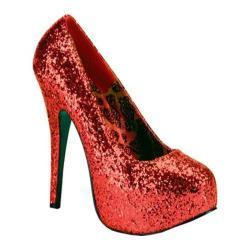 Women's Bordello Teeze 06GW Red Glitter