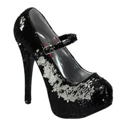 Women's Bordello Teeze 07SQ Black/Silver Sequins