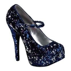 Women's Bordello Teeze 07SQ Blue/Silver Sequins