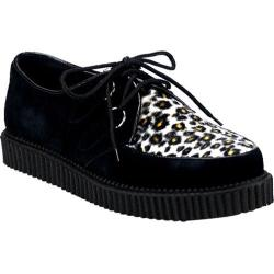 Men's Demonia Creeper 600 Black Suede/Cheetah Fur