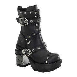 Women's Demonia Sinister 201 Black PU
