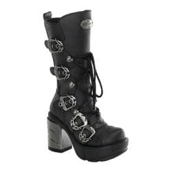 Women's Demonia Sinister 203 Black PU