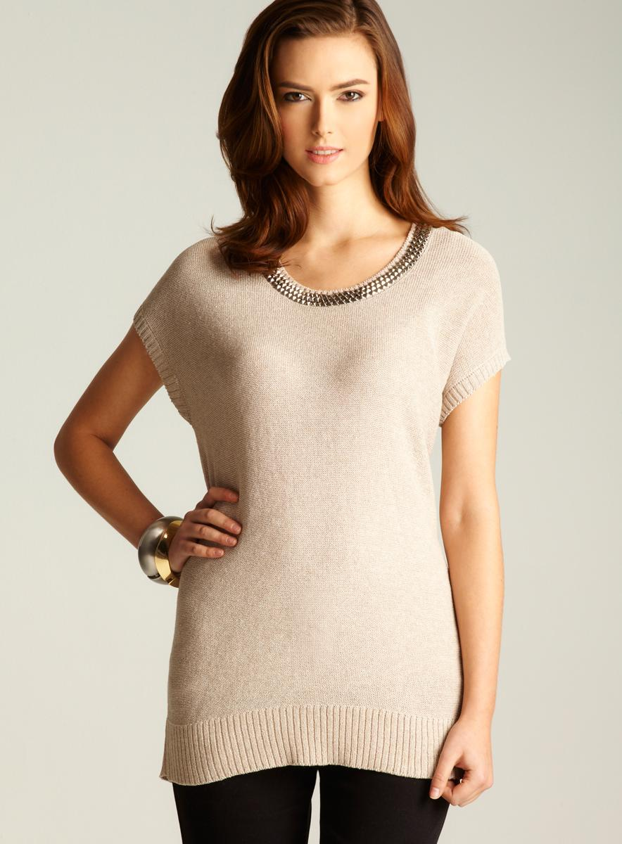 Love Moschino Studded Neckline Sweater