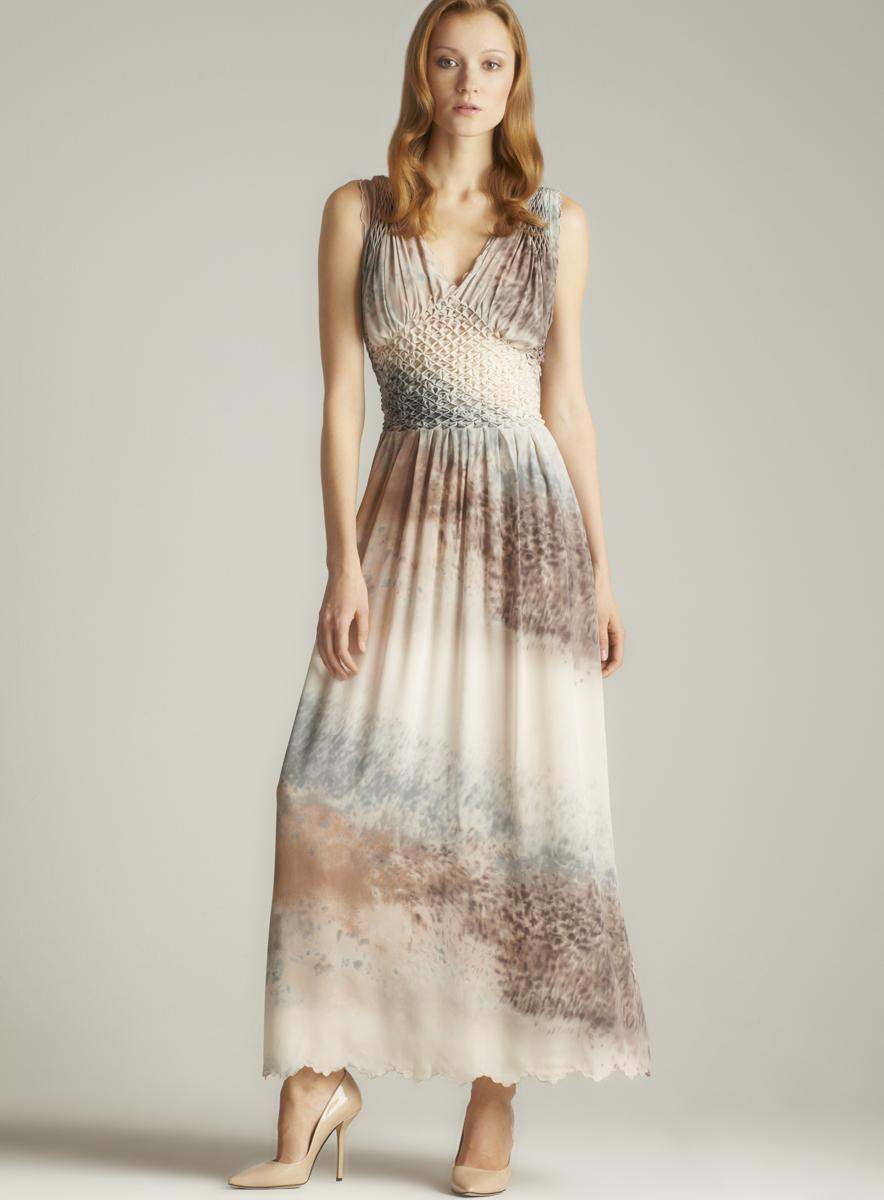 2 B Rych Printed Diamond Maxi Dress