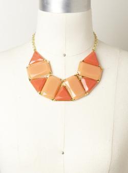 Allure Rectangle & Triangle Necklace