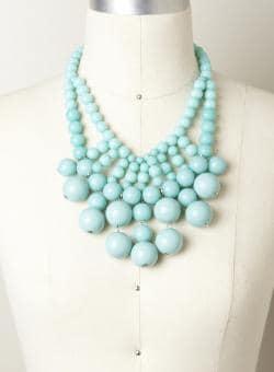 Allure Round Bubble Stone Necklace