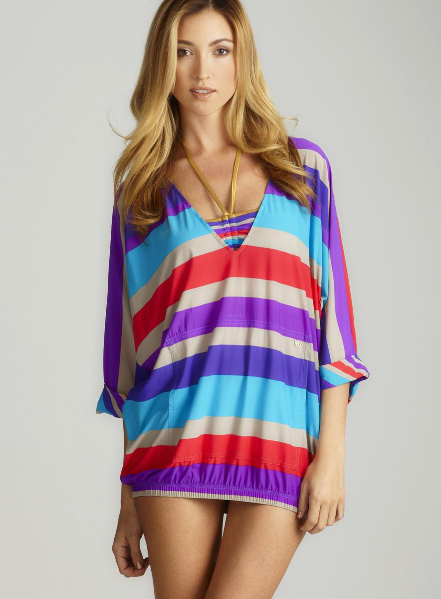 Marc By Marc Jacobs Merida Stripe V Neck Cover Up
