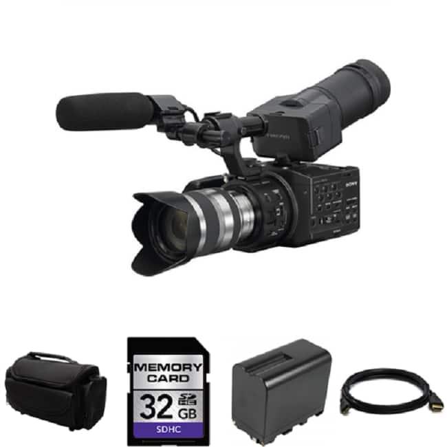 Sony NEX-FS100UK Super 35mm Digital Motion Camcorder with Lens Bundle|https://ak1.ostkcdn.com/images/products/81/656/P15180662.jpg?impolicy=medium