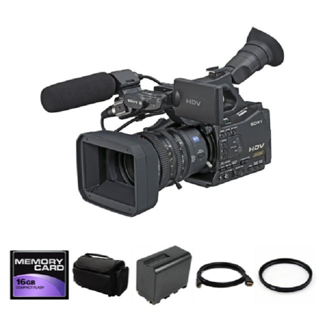 shop sony hvr z7u hdv camcorder with memory recording unit bundle rh overstock com Sony Z7U Camera Sony Z7U Prime Lens