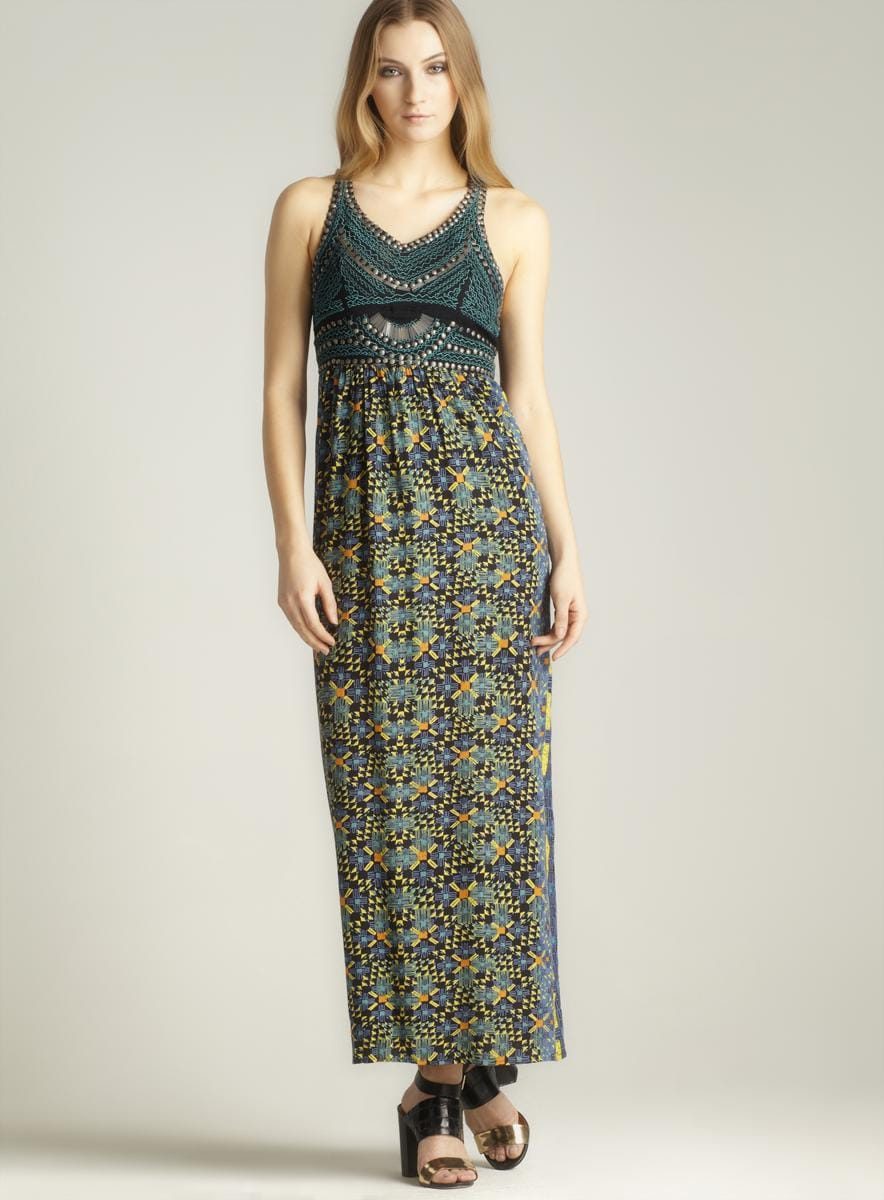 9ef22208a8 Shop Angie V-neck Printed Maxi Dress - Free Shipping On Orders Over  45 -  Overstock - 7821623