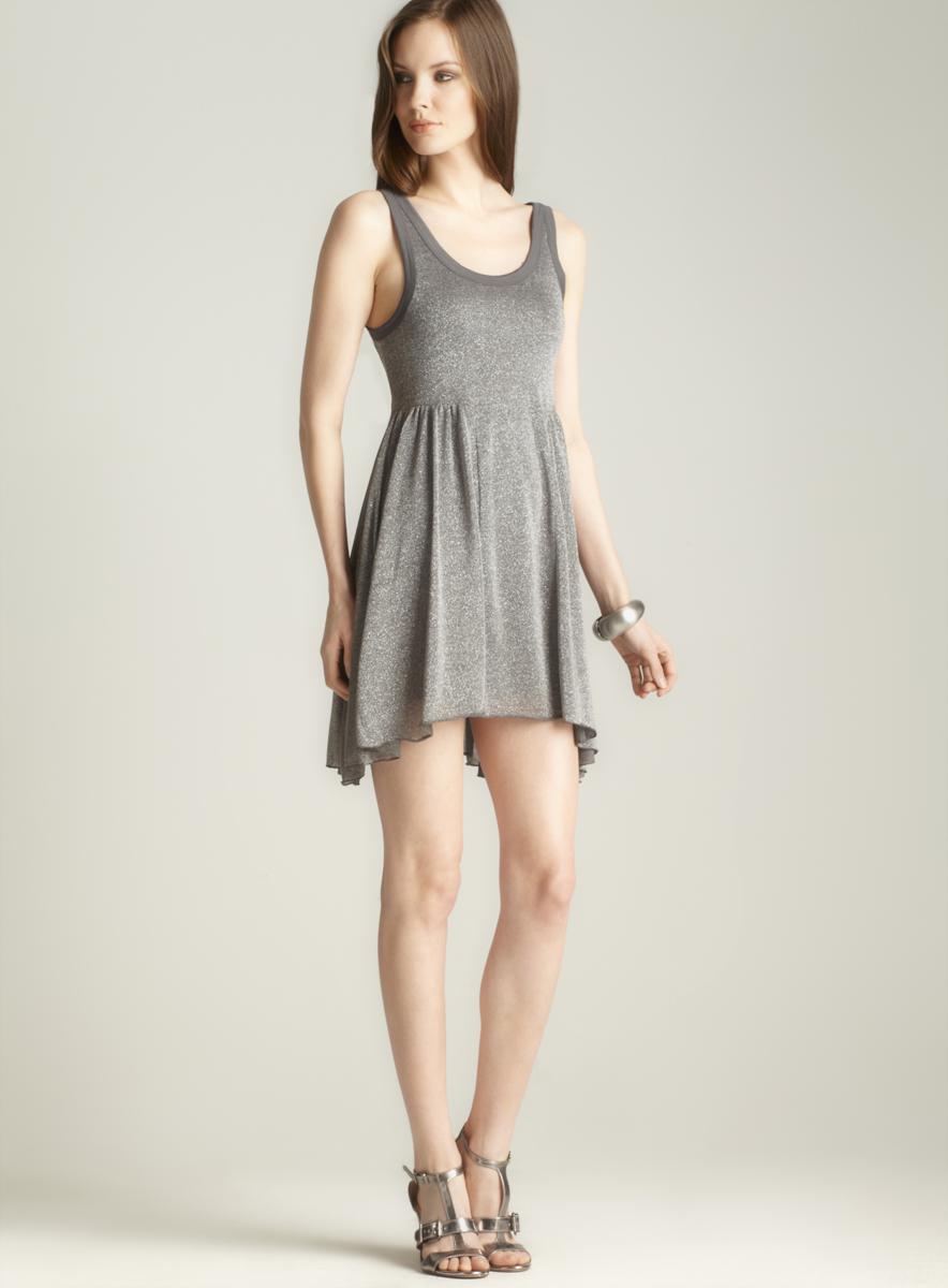 Free People Size L Shimmer Tank Dress
