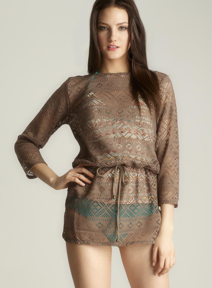 Anne Cole Crochet Cover Up Tunic