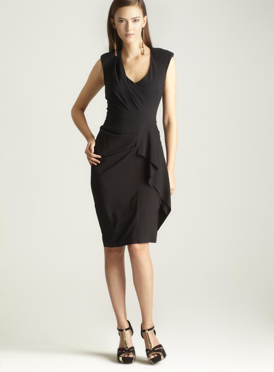 Nicole Miller Stretch Silk Twill Dress