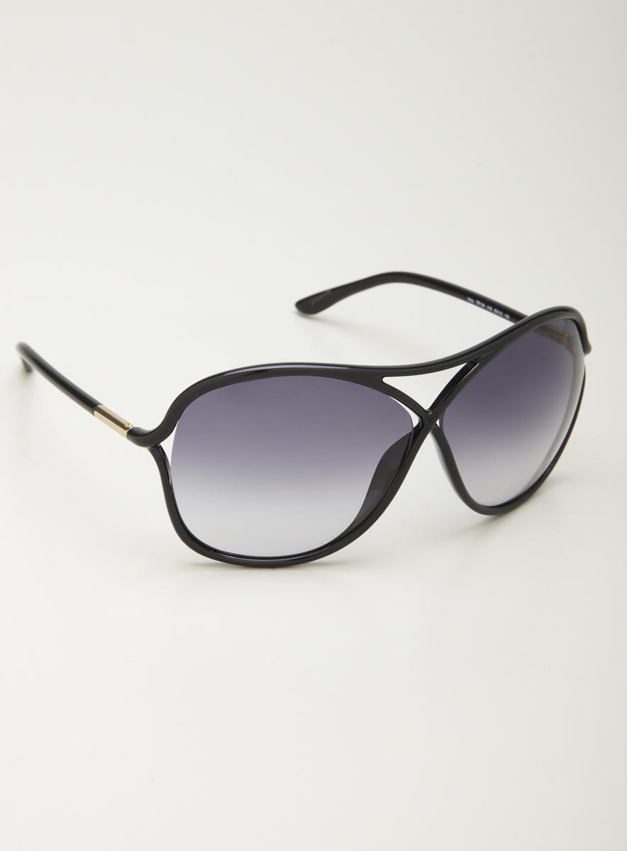 Tom Ford Ladies Plastic Sunglasses in Black