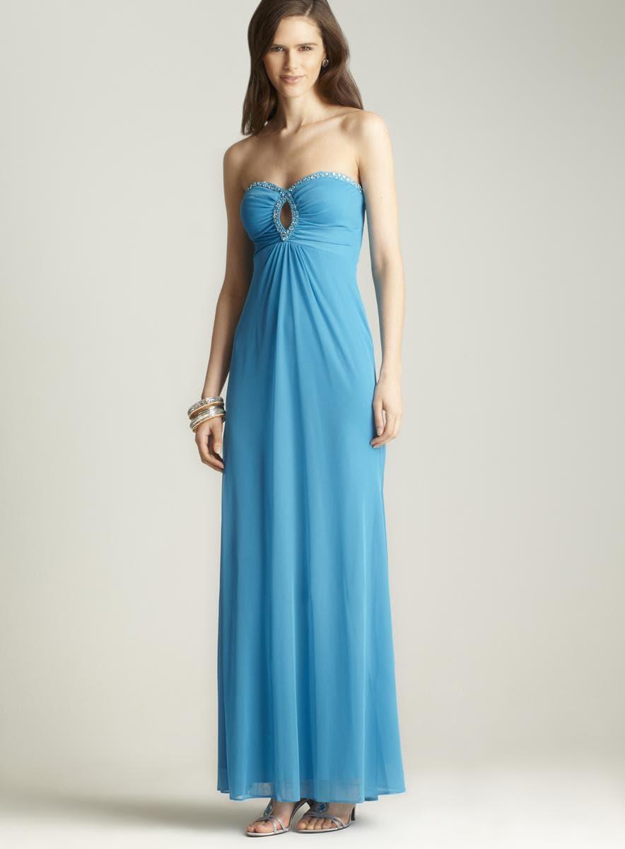 Hailey Logan Strapless Keyhole Beaded Dress