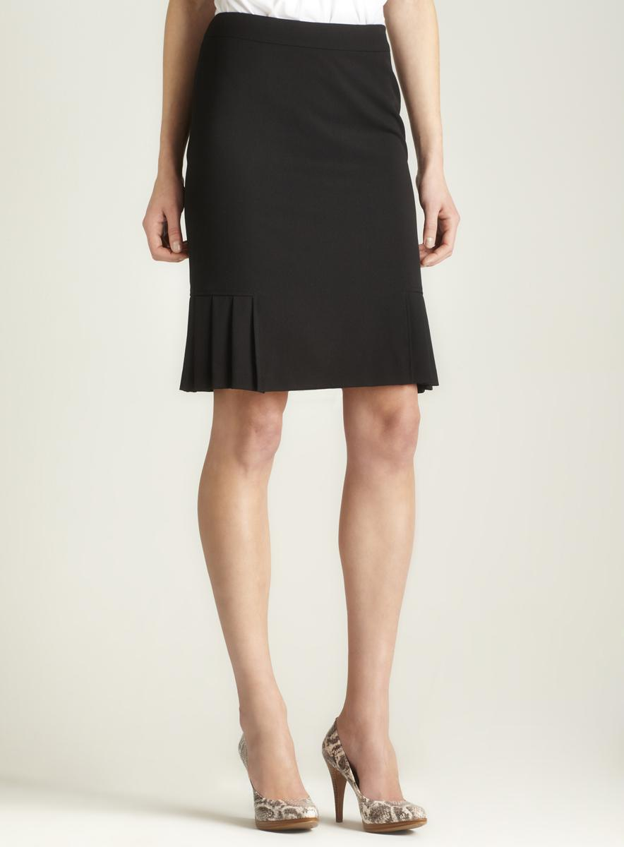 Tahari Pleated Hem Skirt
