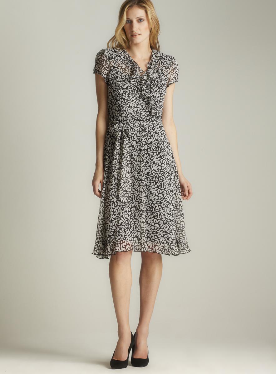 MSK Sheer Floral Print Dress