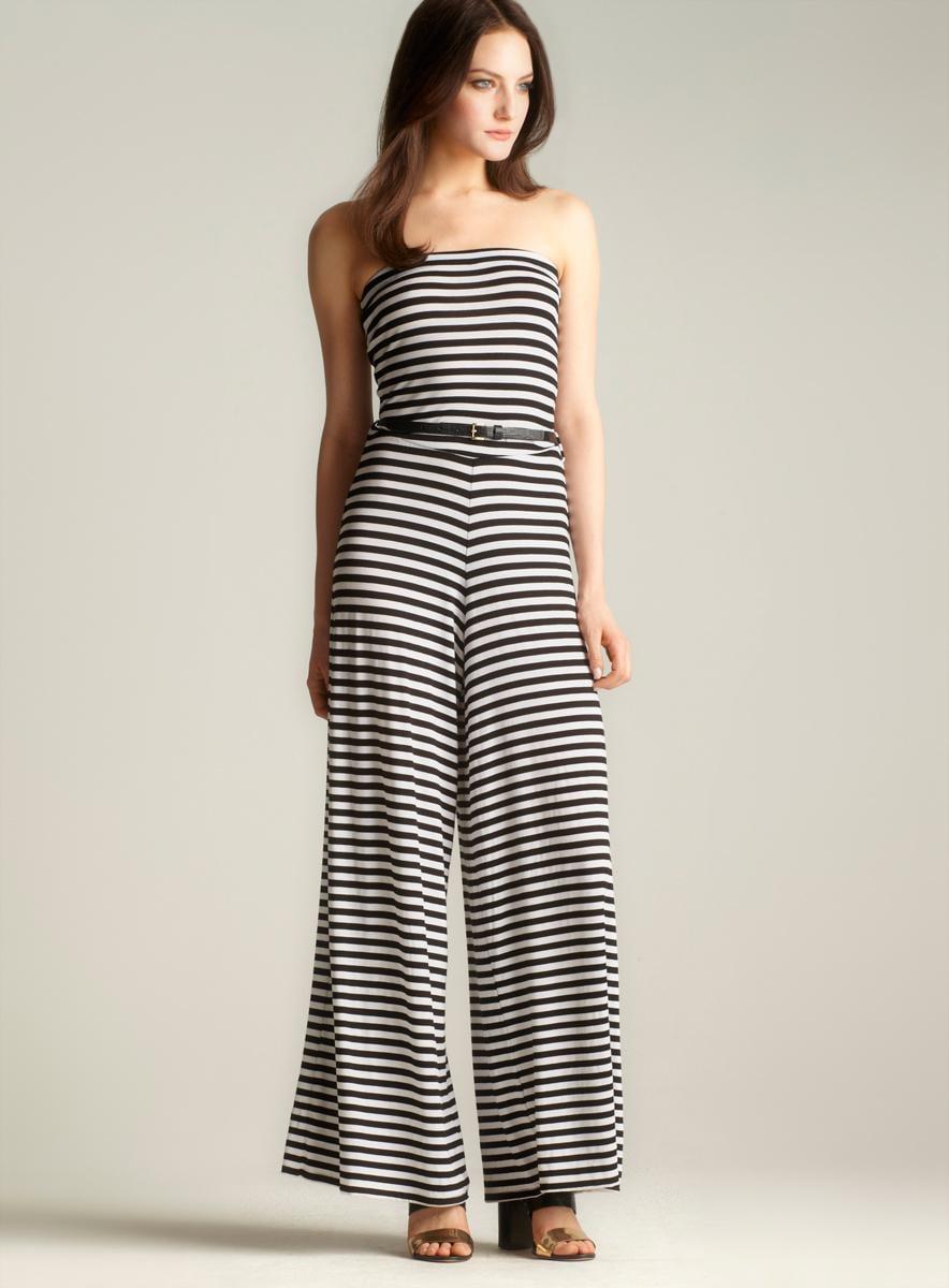 Moa Moa Sleeveless Striped Jumpsuit