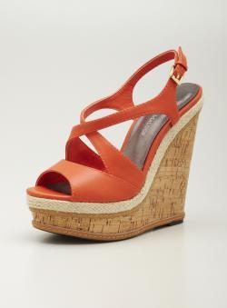 Adrienne Maloof High Wedge Sandal
