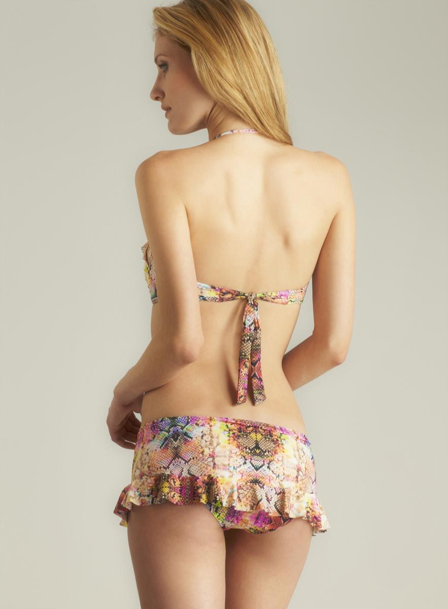 Red Carter Ruffle Skirted Bottom - Thumbnail 1