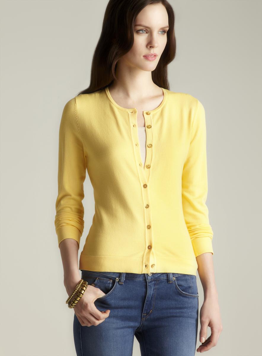 August Silk Petite Button Down Cardigan Sweater Free