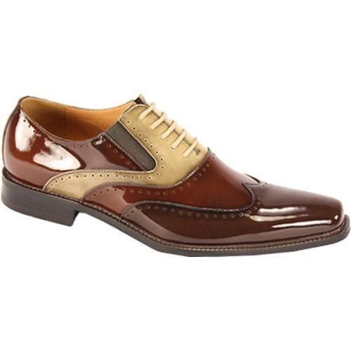 Men's Giorgio Venturi 6296 Chocolate Brown/Light Brown/Beige Polished Leather