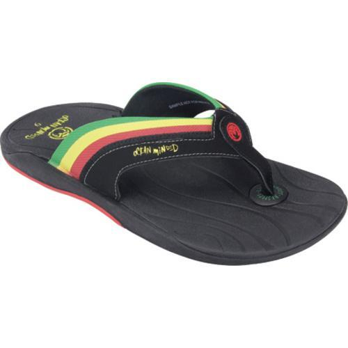 48b3ba35bdd7 Shop Men s Ocean Minded by Crocs Seaweed III Flip-Flop Black Kelly Green -  Free Shipping On Orders Over  45 - Overstock - 7937140