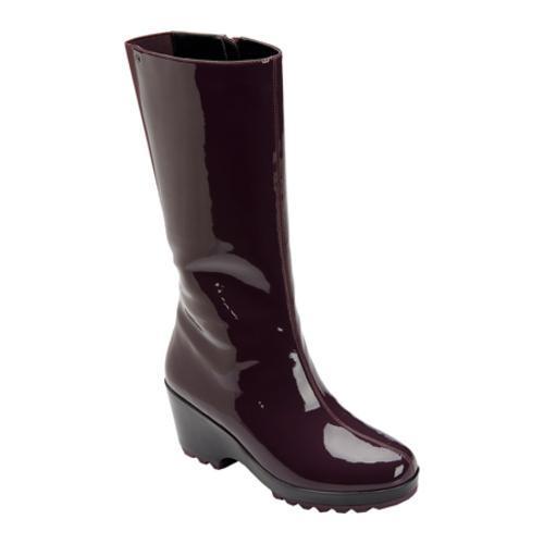 Women's Rockport Lorraine Rainboot 3 Beet Waterproof Leather