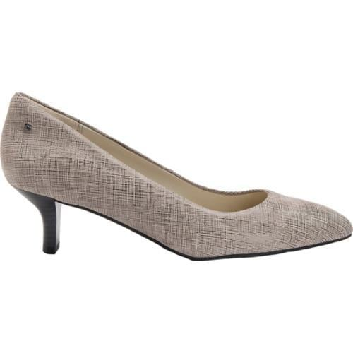 Women's Rockport Lilah Pump Grey Full Grain Leather - Thumbnail 1