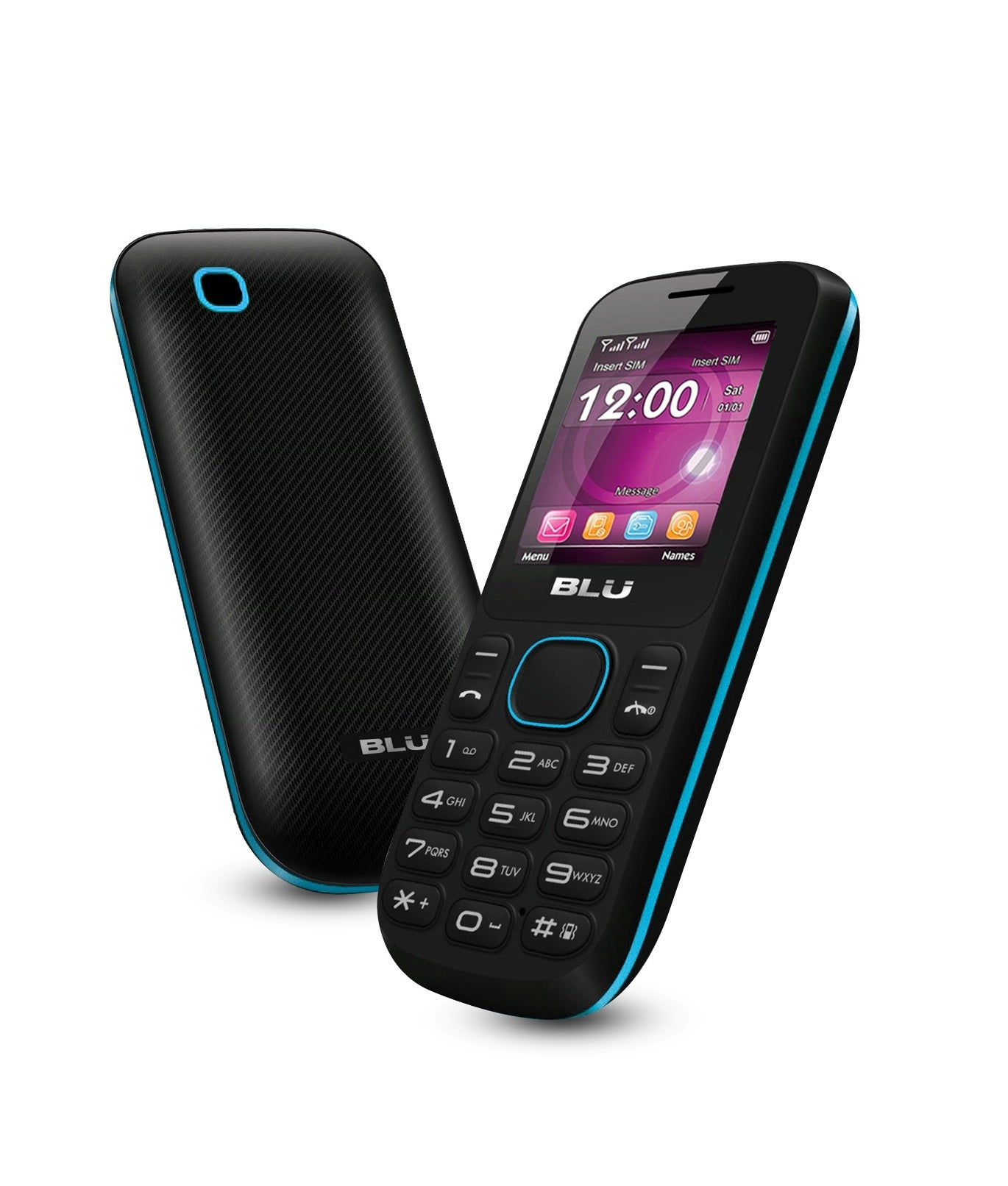 BLU Jenny T172 GSM Unlocked Dual SIM Cell Phone - Black/Blue