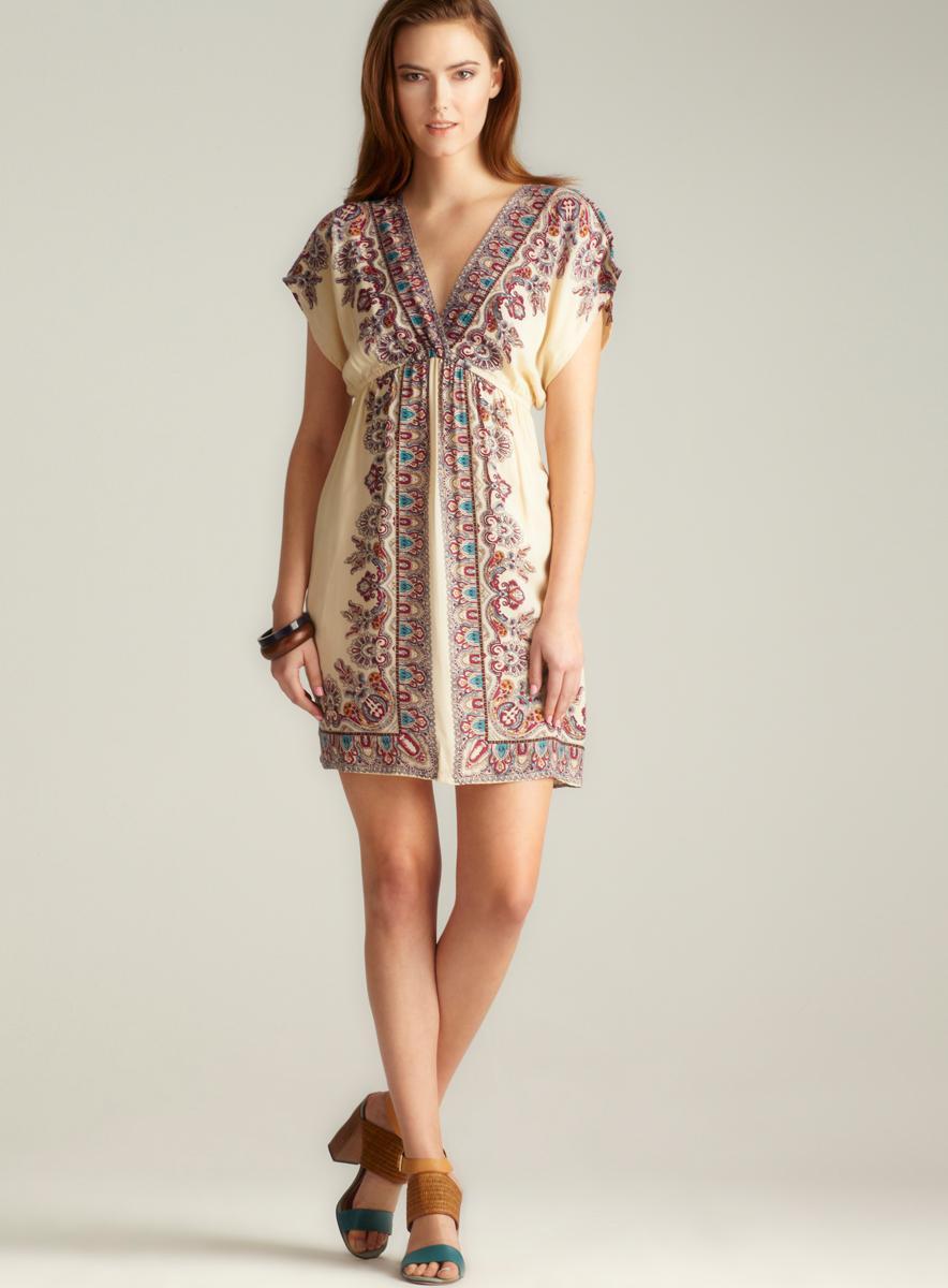 Angie Kimono Sleeve Printed Dress
