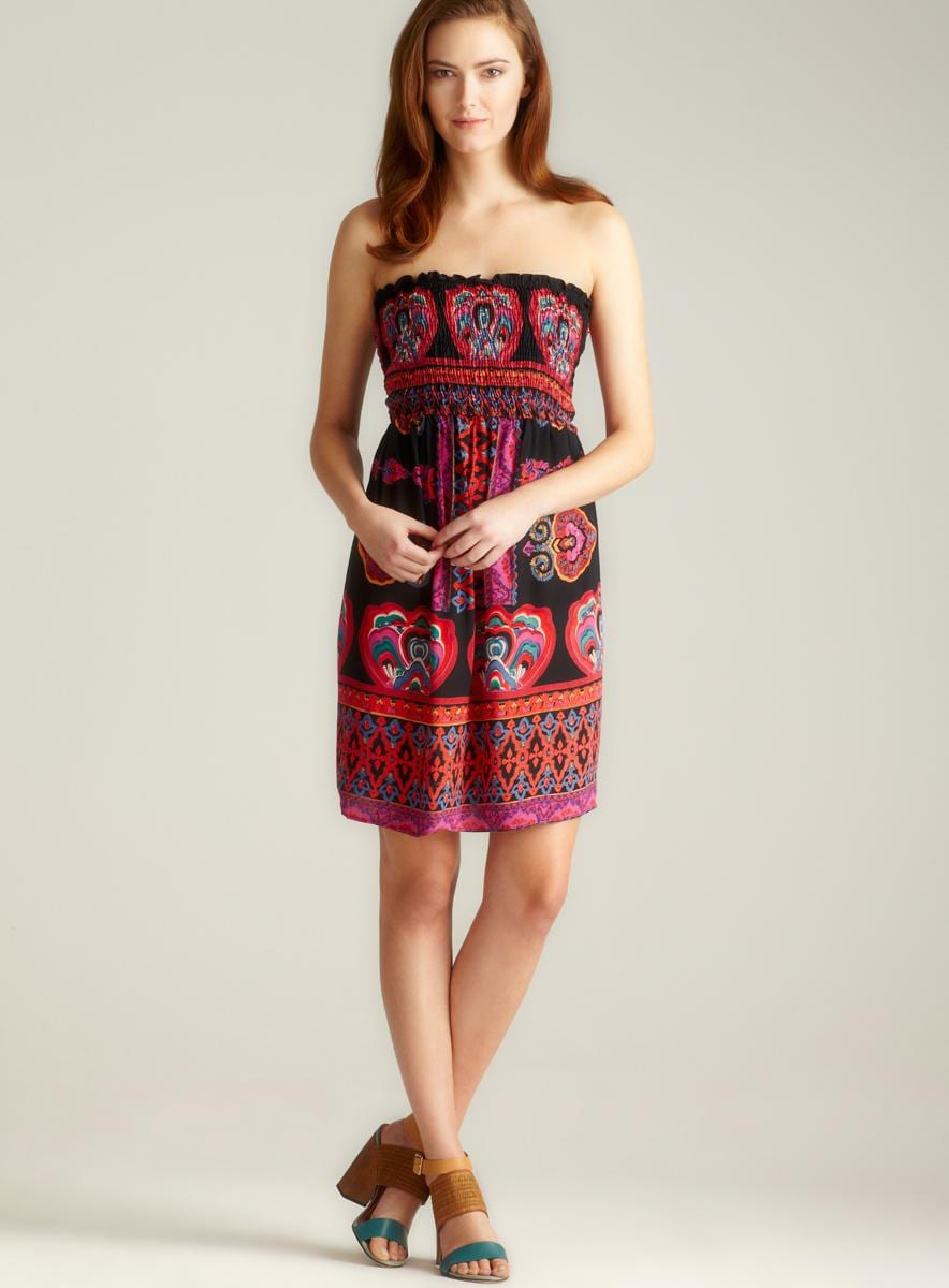 Angie Strapless Smocked Bodice Short Dress