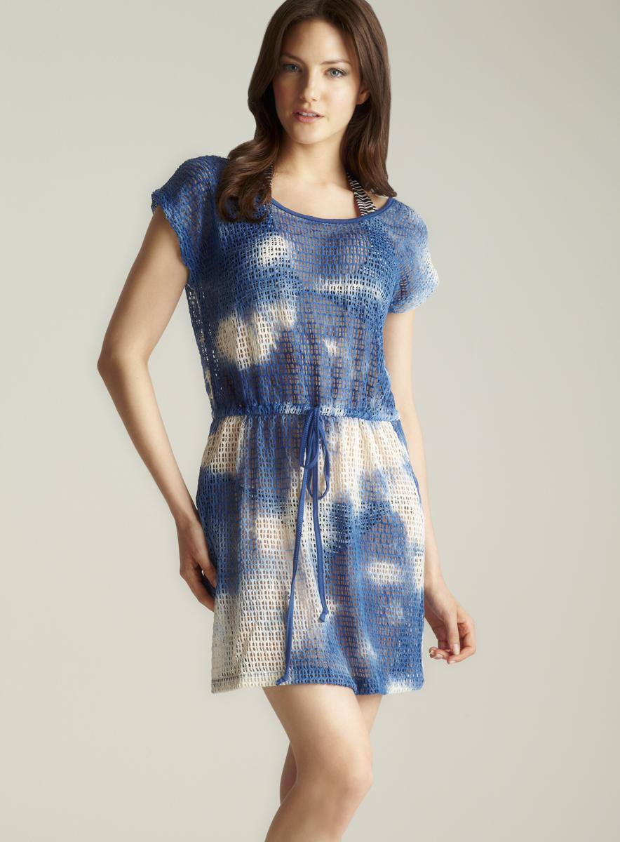 Club Z Collection Tie Dye Mesh Cover Up