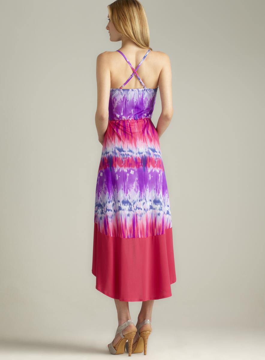 Paper Doll Hi-lo Tie Dye Dress - Thumbnail 1