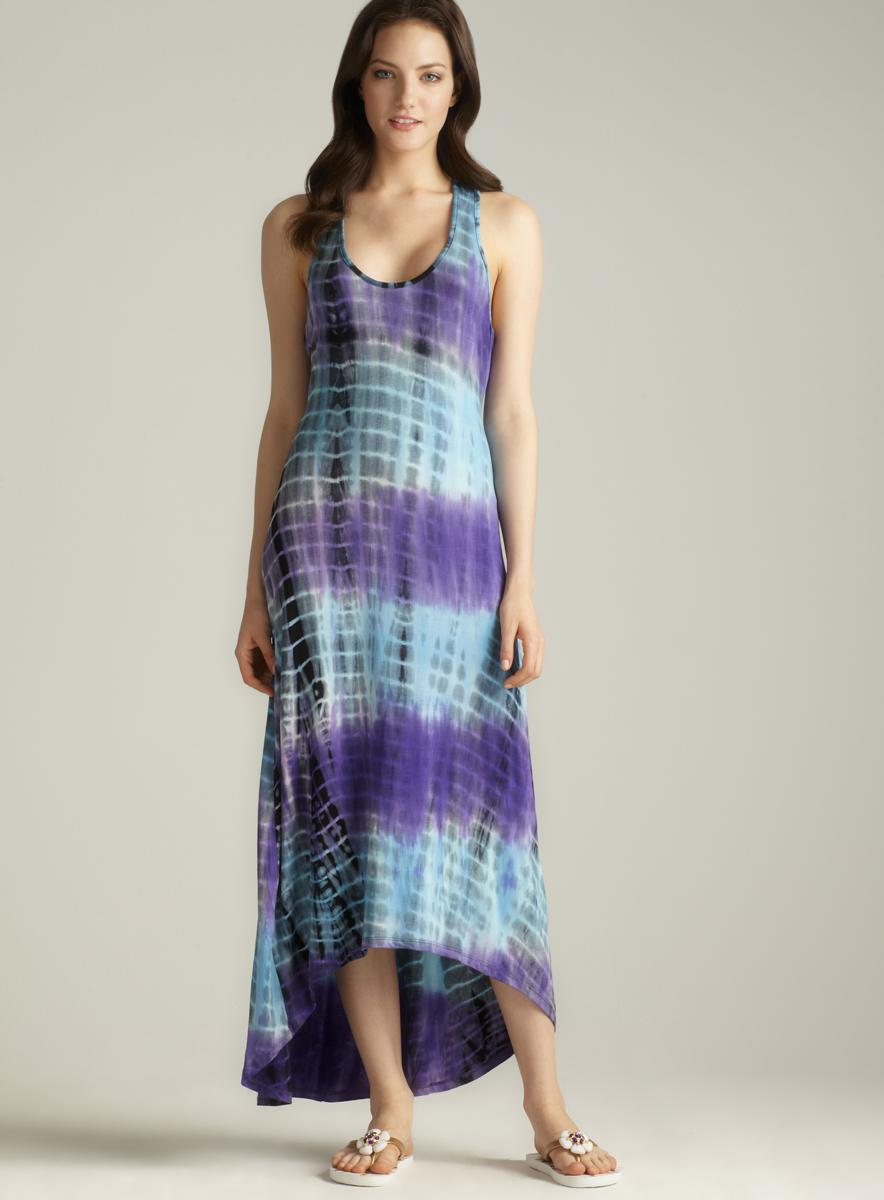 Club Z Collection Crochet Back Hi-lo Maxi Cover-up